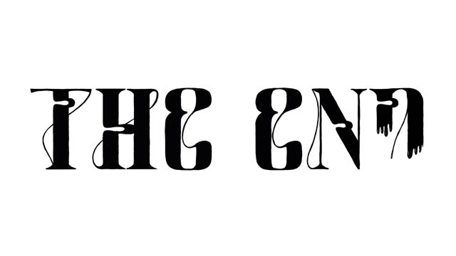 the end old fashioned (hand writing) white - 1960 stock videos & royalty-free footage