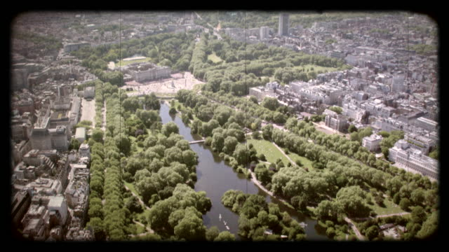 old film aerial view of mayfair, london, uk. 4k - palace stock videos & royalty-free footage