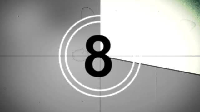 old film countdown v1 - film stock videos & royalty-free footage
