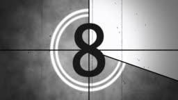4K Old Film Countdown