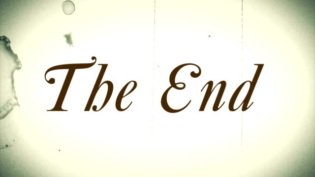 "old film effect ""the end"" hd - animal fin stock videos & royalty-free footage"