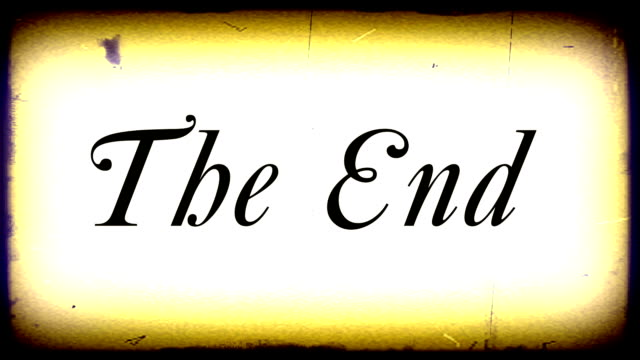 "old film effect ""the end"" hd - finishing stock videos & royalty-free footage"