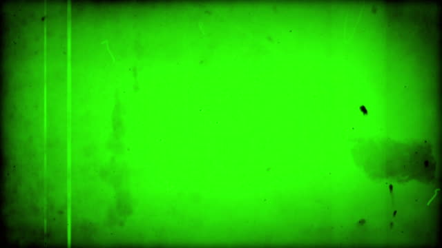 old film - green overlay with audio (full hd) - film reel stock videos & royalty-free footage