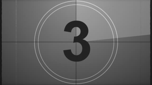 old film leader countdown with sound - film slate stock videos & royalty-free footage