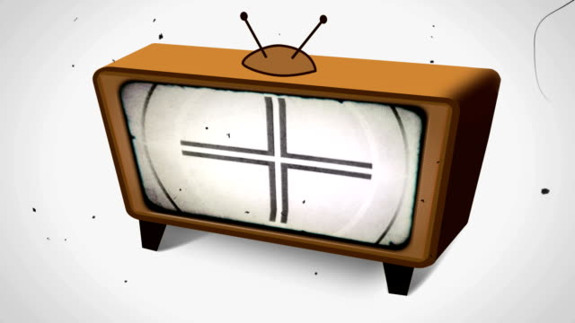 古い映画のリーダーにレトロなテレビを完備。hd - 連続するイメージ点の映像素材/bロール