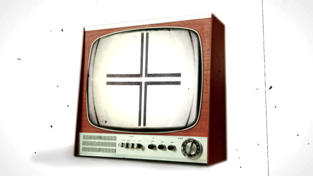 Old Film Leader on Retro TV transition. HD