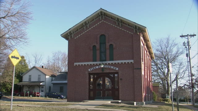 ws old fire station house / rutland, vermont, usa - fire station stock videos & royalty-free footage