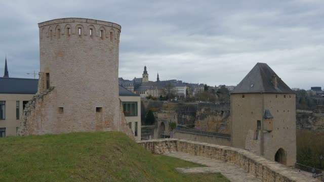 old fortress at plateau du rham, luxembourg city, grand duchy of luxembourg, europe - luxembourg benelux stock videos & royalty-free footage