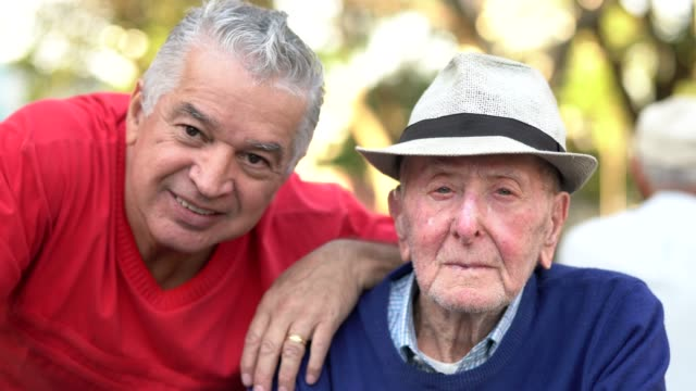 old friends/ father and son portrait - spanish and portuguese ethnicity stock videos and b-roll footage