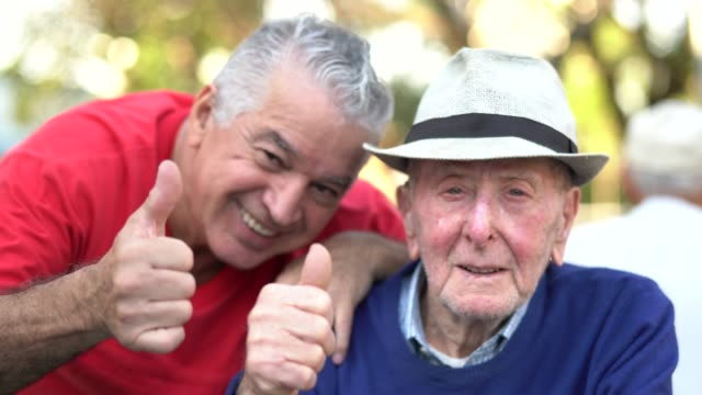 old friends/ father and son portrait - adult offspring stock videos & royalty-free footage
