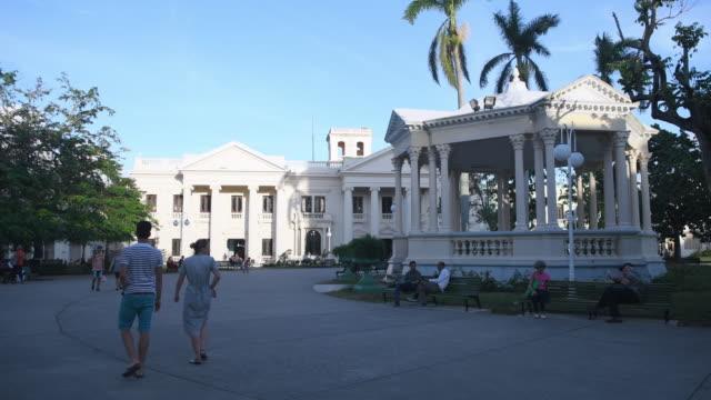 old gazebo in the leoncio vidal park, santa clara, villa clara, cuba - gazebo stock videos & royalty-free footage