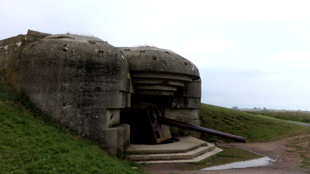 old german bunker in omaha beach - bomb shelter stock videos & royalty-free footage