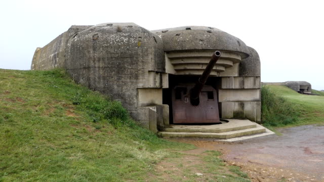 old german bunker in omaha beach - allied forces stock videos & royalty-free footage