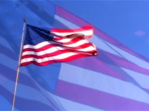 old glory waving with overlay - lady justice stock videos and b-roll footage