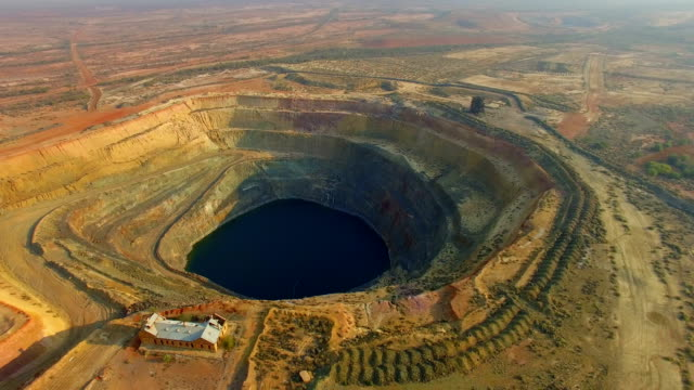 old gold mine in the australian outback. aerial view - mining stock videos & royalty-free footage