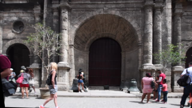 old havana, cuba: door at the saint francis of assisi church - construction material stock videos and b-roll footage
