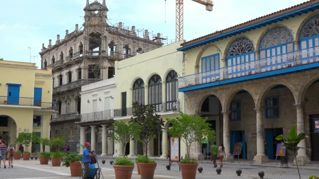 Old Havana, Cuba: 'Plaza Vieja' or 'Old Plaza' which is a famous place in the Unesco World Heritage Site located in the Cuban capital city