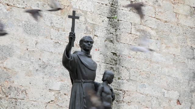 Old Havana, Cuba: statue of Fray Junipero Serra with Juaneño.