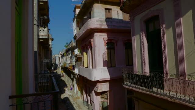 old havana cuba street scene tilt down to bike taxi
