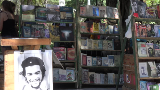 old havana, havana, cuba-july 1, 2014: the antique objects are sold as tourist souvenirs in one of the town squares of the city. old havana is a... - painting art product stock videos & royalty-free footage