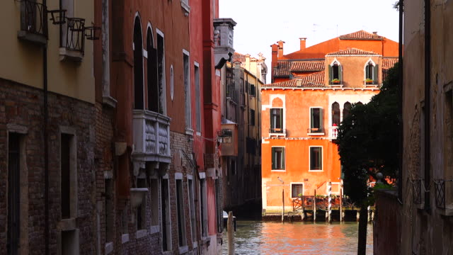 old houses and canal view from venice, italy - mediterranean culture stock videos & royalty-free footage