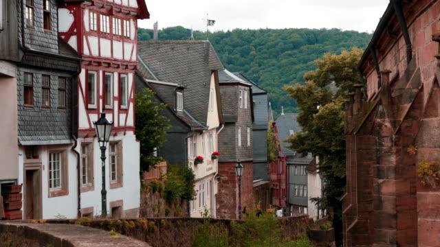 old houses in marburg, hessen, germany - hesse germany stock videos & royalty-free footage