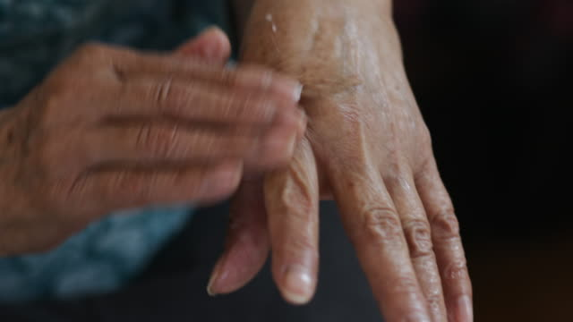 old human hands - hygiene stock videos & royalty-free footage
