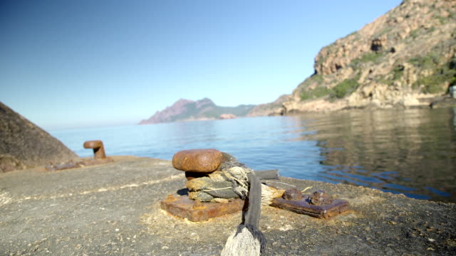 Old Iron mooring in Corsica