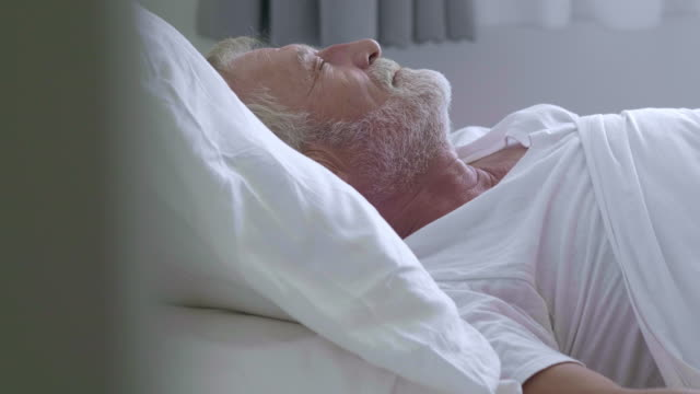 old man on bed at home - 70 79 years stock videos & royalty-free footage