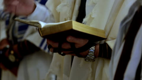 old man reading torah - judaism stock videos & royalty-free footage