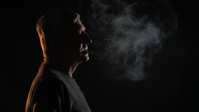 old man smoking - one senior man only stock videos & royalty-free footage