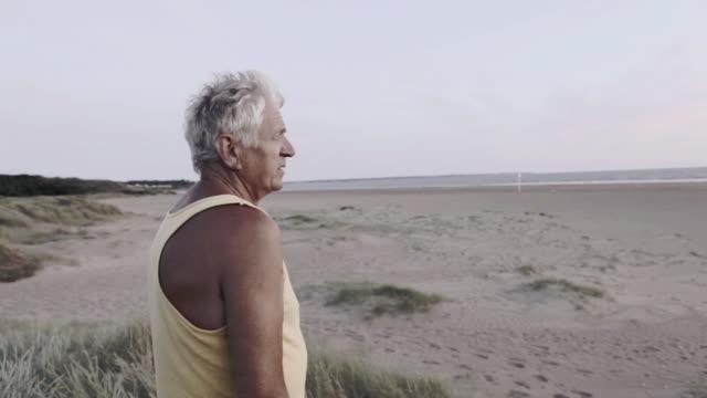 MS Old man watching sea / Corsept, Loire Atlantique, France