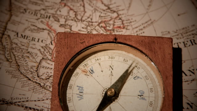 old mariner's compass - drawing compass stock videos & royalty-free footage