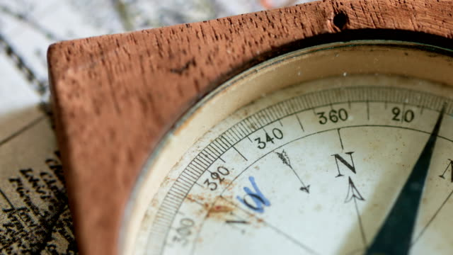 old mariner's compass - antiquities stock videos & royalty-free footage
