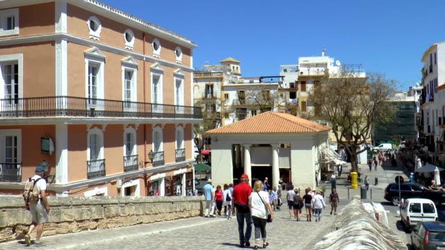 旧市場-イビサ島、スペイン - イビサ島点の映像素材/bロール
