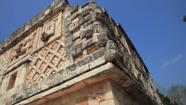 ms pan td la old mayan ruins, uxmal, yucatan, mexico - mayan stock videos and b-roll footage