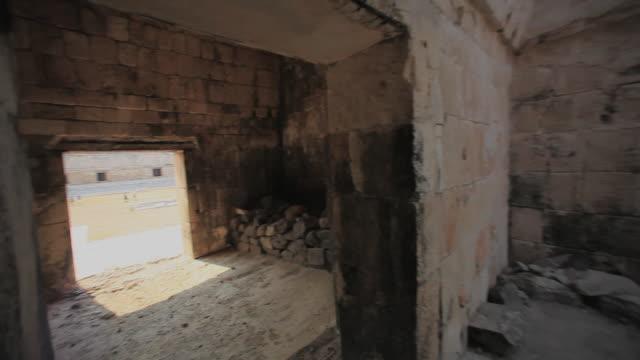 ws pan tu old mayan ruins, uxmal, yucatan, mexico - puuc region stock videos and b-roll footage