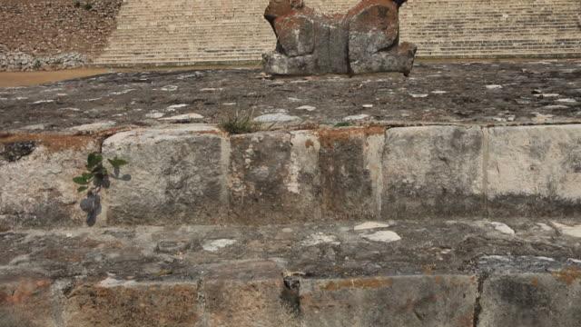 ws la tu old mayan ruins, uxmal, yucatan, mexico - puuc region stock videos and b-roll footage