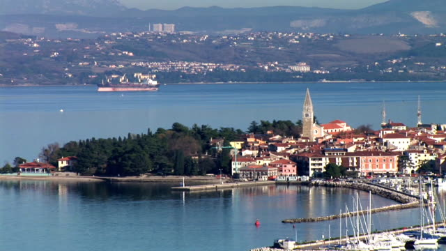 hd: old mediterranean city - slovenia stock videos & royalty-free footage