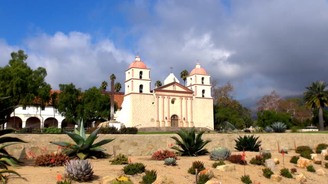 old mission - santa barbara, california - santa barbara california stock videos & royalty-free footage