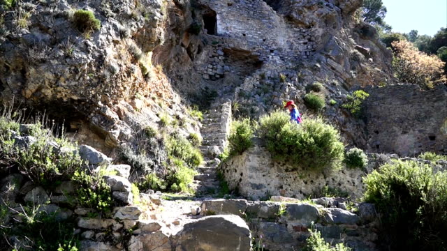 old monastery afkule - mugla province stock videos & royalty-free footage