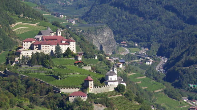 Old Monastery on a Mountain Rock in South Tyrol