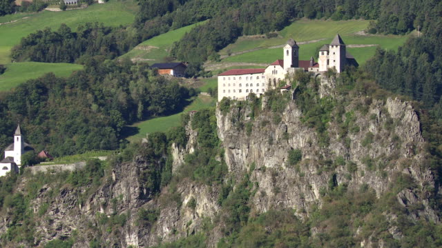 Old Monastery on a Mountain Rock in South Tyrol PAN