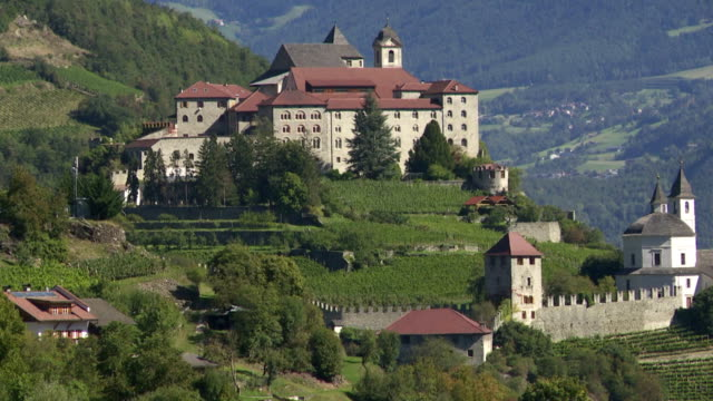 Old Monastery on Mountain Rock in South Tyrol TILT UP