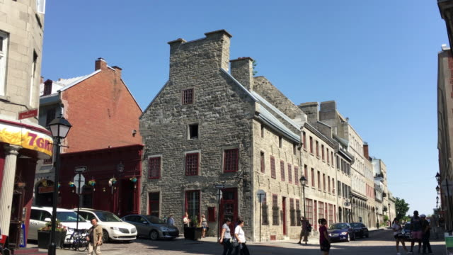 Old Montreal, Canada: Old French architecture buildings in the Unesco World Heritage Site