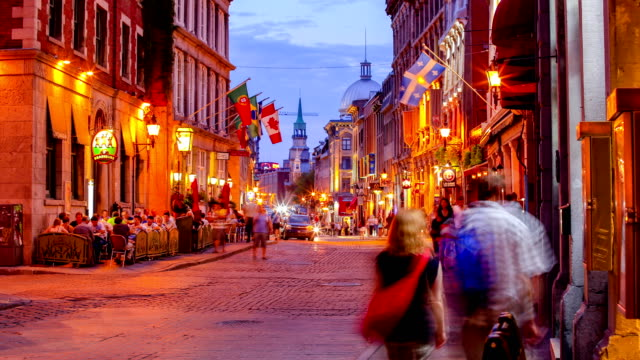 stockvideo's en b-roll-footage met old montreal - canada