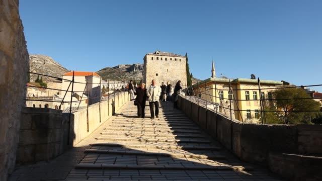 old mostar bridge - religious symbol stock videos & royalty-free footage