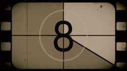 Old Movie Countdown Film Reel
