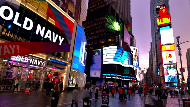 old navy new store - midtown manhattan stock videos & royalty-free footage