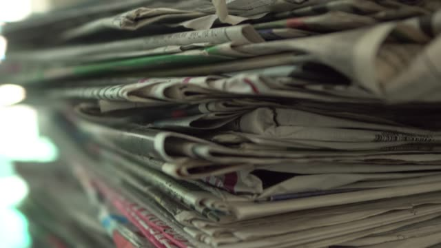 old newspaper recycling. - newspaper stock videos & royalty-free footage